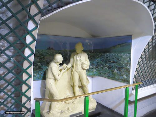 Replica of the statue of Antoine Parmentier in Parmentier Metro station