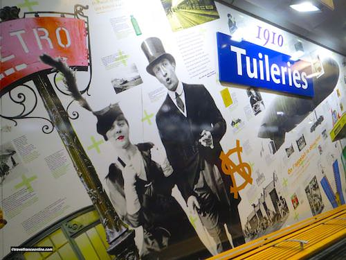 Tuileries Metro station - Years 1910