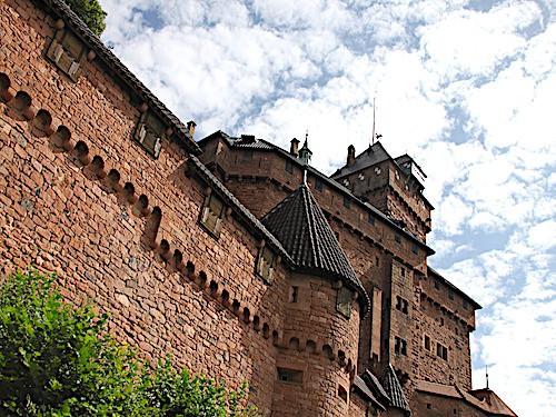 Close-up on Chateau de Haut-Kœnigsbourg