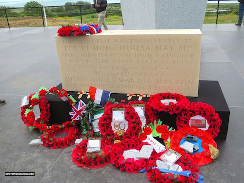 Commemorative wreaths - Inauguration of the brirish Normandy Memorial in Ver-sur-mer - Gold Beach War Memorials
