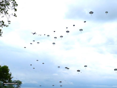 D-Day 75th Anniversary Commemorations - Drop of paratroopers in La Fière