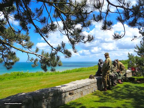 D-Day 75th Anniversary Commemorations - Omaha Beach seen from Colleville-sur-mer American Cemetery
