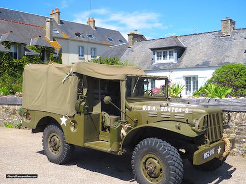 D-Day 75th Anniversary Commemorations - jeep in a village of Cotentin