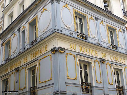 Au Rocher de Cancale restaurant in Rue Montorgueil