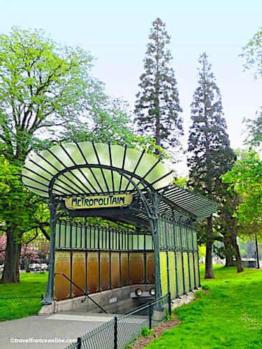 Cultural Metro stations in Paris - Porte Dauphine Art Nouveau entrance