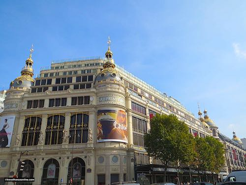 Printemps Haussmann - Paul Sedille's facade on Boulevard Haussmann