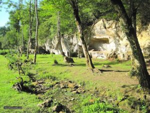 Troglodyte dwellings by the Castle of Commarque