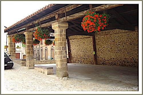 Medieval Halle (covered market)of Auzon, Petite Cité de Caractère in Auvergne