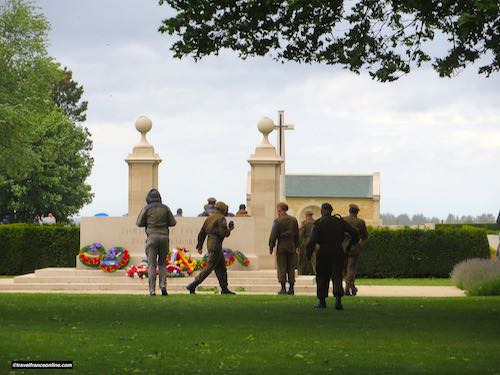 Beny-sur-mer Canadian war cemetery - During the 75th Anniversary commemorations