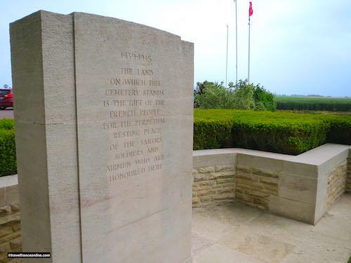 Beny-sur-mer Canadian war cemetery - Dedication