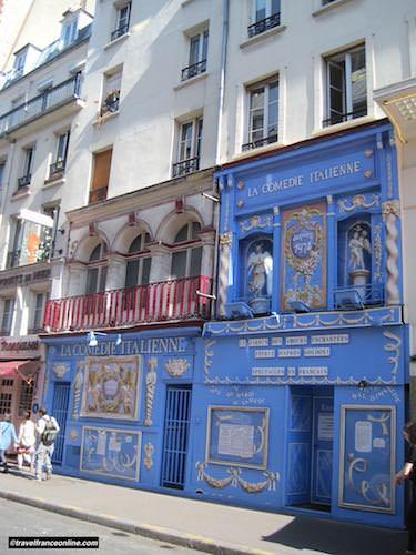 Theatre de La Comedie Italienne in Rue de la Gaite