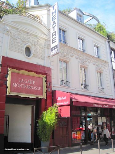 Theatre de La Gaite-Montparnasse in Rue de la Gaite
