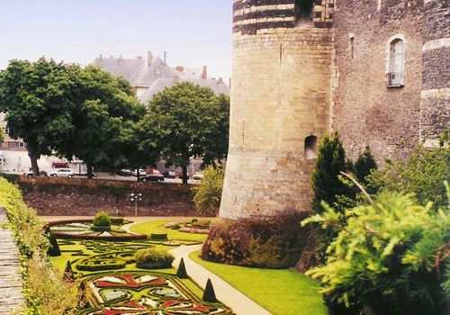 Angers castle - Ramparts and former moats
