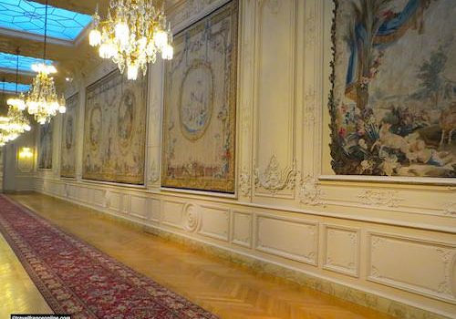 Corridor and tapestries - Assemblee Nationale in Paris