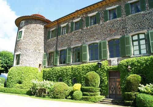 Chateau de Chavaniac Lafayette, built with the local black stone