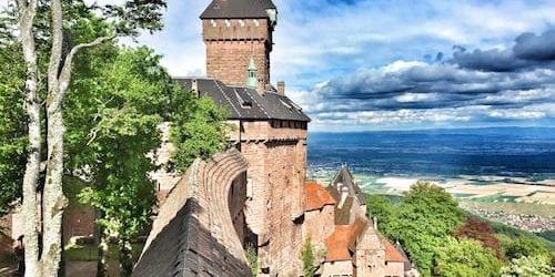 Chateau de Haut-Kœnigsbourg overlooking the Plain of Alsace
