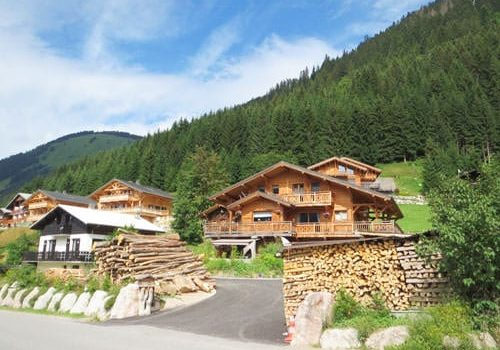 The lumberjack house in Châtel