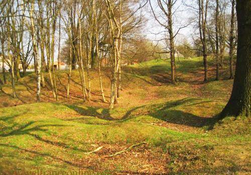 Hill 60 preserved in its war state - shells craters