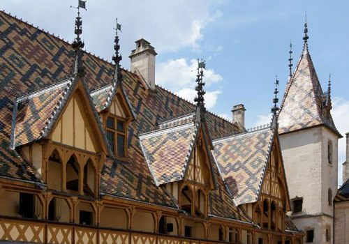 Hospices de Beaune - Details roofs