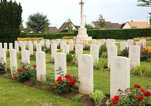 Juno Beach War Memorials in Douvres-la-Delivrande - British War Cemetery