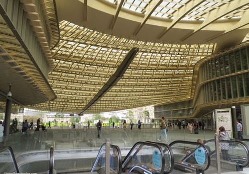 Les Halles - new entrance under canopy