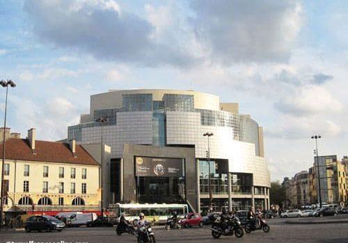 Opera Bastille at sunset