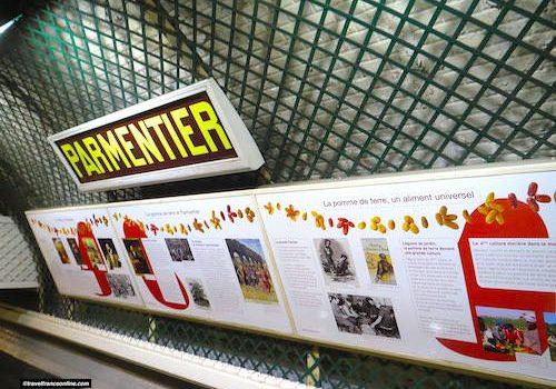 Parmentier Metro station in Paris