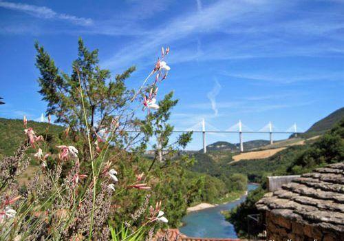 Millau Viaduct seen from Peyre