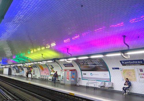 Rambuteau Metro station in Paris