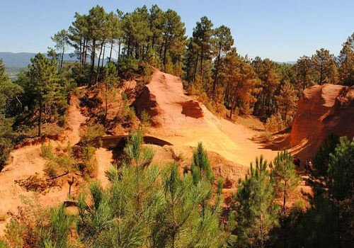 Ocher deposits in Roussillon