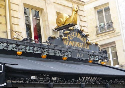Rue Montorgueil - L'Escargot Montorgueil restaurant
