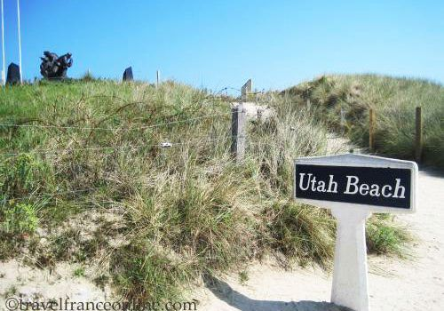 Utah Beach - Breach where Theodore Rossevelt Jr and his men exited