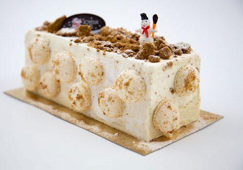 White chocolate Yule Log