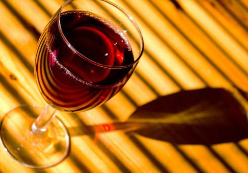 Glass of Beaujolais Nouveau
